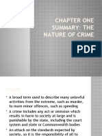 Chapter 1 Summary - The Nature of Crime