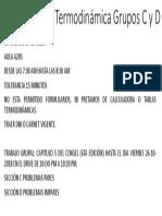 El Examen de Termodinámica Grupos C y D