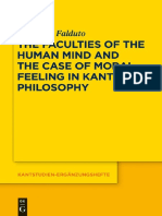 Antonino Falduto - The Faculties of the Human Mind and the Case of Moral Feeling in Kant's Philosophy