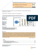 Membrane Fouling Prevention and Control Strategies in Pulp and Paper Industry Applications