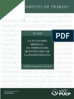 Economia Peruana en Vísperas Del Bicentenario