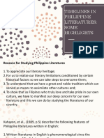 3. Timelines in Philippine Literatures