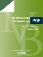 Immunological Basis Immunization - Measles