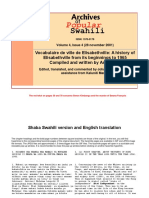 Elisabethville From Its Beginnings to 1965 in English and Swahili