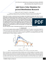 Selection of Light Source Solar Simulator for different Spectral Distributions Research