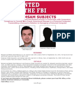 Samsam Subjects FBI Wanted 8.5x11
