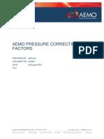 AEMO Pressure Correction Factors August 2015
