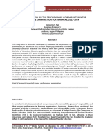 Impact of Review on the Performance of Graduates in The