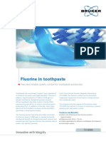 TD-NMR - Analysis of Fluorine in Toothpaste