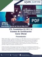 Exxa Consulting ITIL FOUNDATION Curso Oficial