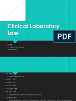 Clinical Laboratory Law RA. 4688