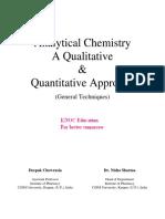 Deepak Chowrasia, Nisha Sharma-Analytical Chemistry. a Qualitative & Quantitative Approach (2015)