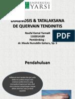 Diagnosis & Tatalaksana De Quervain Tendinitis