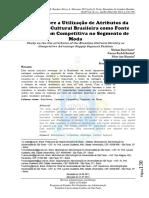 Estudo Sobre a Utilização de Atributos Da Identidade Cultural Brasileira Como Valorização de Produtos de Moda