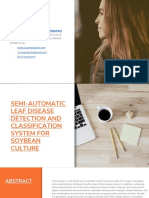SEMI-AUTOMATIC LEAF DISEASE DETECTION AND CLASSIFICATION SYSTEM FOR SOYBEAN CULTURE