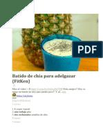 Chia Preparacion Vaso Diario