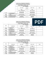 Jadual Kelas Tambahan Gemilang IV