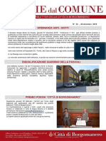 Notizie Dal Comune di Borgomanero del 28 Dicembre 2018