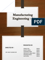 Manufacturing Engineering Ppt