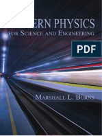 Modern Physics for Science and Engineering by Marshall L Burns