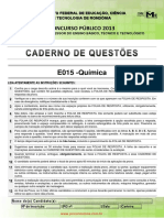 IFRO 2013 - Prova Concurso (Professor de Química)