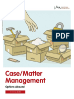 Case_Matter Management - Options Abound (ILTA, Jul 2010)