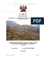 Perfil Carretera Huacamulo - Pacchac