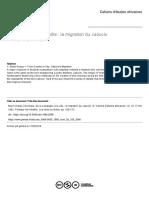 La Migration Du Caboclo