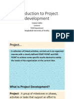Introduction of Project Management