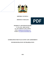 Guidelines for Evaluation and Assessment for Registration of Pharmacists 2