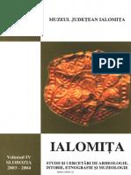 04 Revista IALOMITA Studii Si Cercetari de Arheologie Istorie Etnografie Si Muzeologie IV 2003 2004