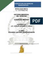 Historia Universal Del Derecho - Codíces Mayas