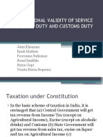 Constitutional Validity of Excise,Service&Customs