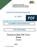Cuaderno-De-Incidencias TERCERO de PRIMARIA
