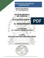 Historia Universal Del Derecho - Autoevaluación VI