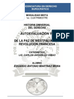 Historia Universal Del Derecho - Autoevaluación VIII