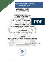Historia Universal Del Derecho - Autoevaluación XI