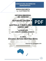 Historia Universal Del Derecho - Autoevaluación XIV