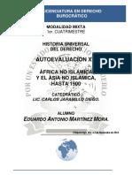 Historia Universal Del Derecho - Autoevaluación XIII