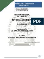 Historia Universal Del Derecho - Autoevaluación XVI