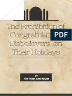 The Prohibition on Congratulating Disbelievers on Their Holidays