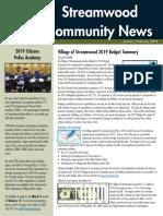 Streamwood Newsletter, January 2019