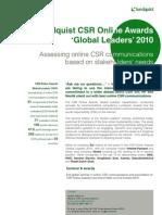 CSR Online Awards Global Leaders Executive Summary