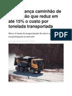 Scania Lança Caminhão de Mineração Que Reduz Em Até 15