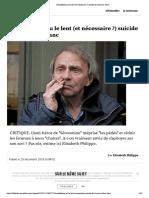 Houellebecq ou le lent (et nécessaire ?) suicide de l'homme blanc