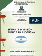 Sitema de Inversión Pública de Argentina