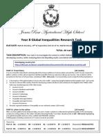 2016 Global Inequalities Task Yr8
