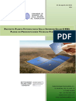 Proyecto Planta Fotovoltaica Valle Inferiro Solar 6 MWp