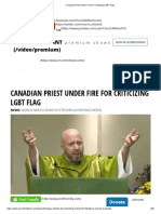 Canadian Priest Under Fire for Criticizing LGBT Flag