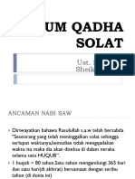 Hukum Qadha Solat